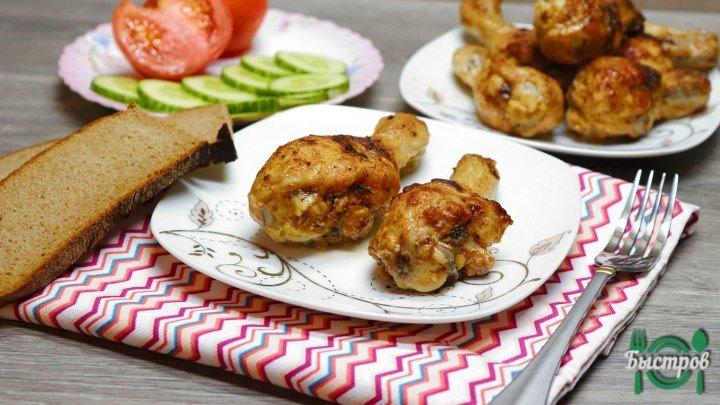 Сочная куриная голень на сковороде