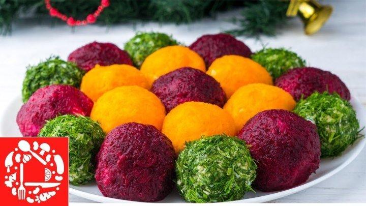 Салат-закуска Цветок! Прекрасная идея для Новогоднего стола!