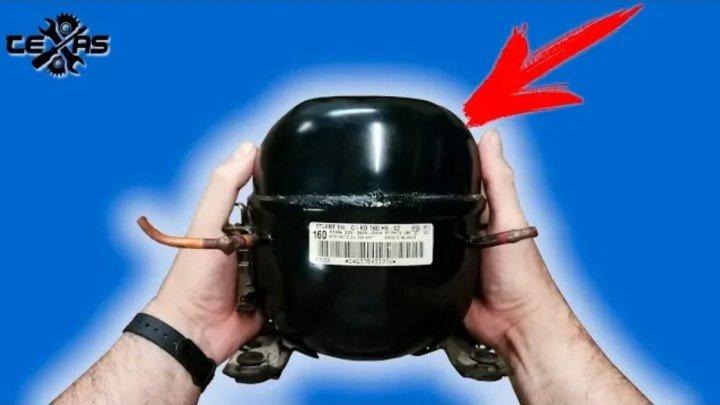 Ты не поверишь! Что можно сделать из двигателя от холодильника. Видео от канала TEXaS TV