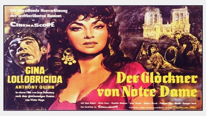 Notre-Dame de Paris/The Hunchback of Notre Dame (1956) Gina Lollobrigida, Anthony Quinn, Jean Danet