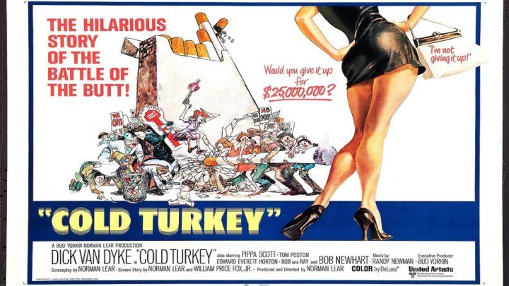 ASA 🎥📽🎬 Cold Turkey (1971) a film directed by Norman Lear with Dick Van Dyke, Pippa Scott, Tom Poston, Edward Everett Horton