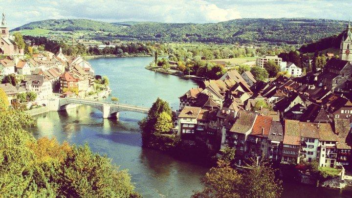 Лауфенбург - граница Швейцарии и Германии #FominaTravel #FominaSwiss