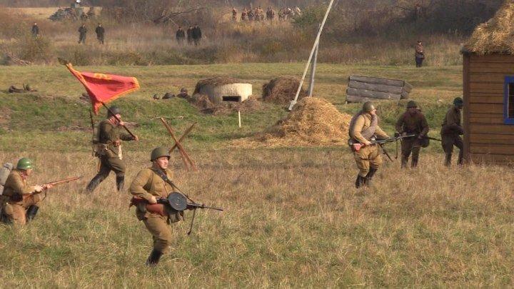 «Москва за нами»! На Бородинском поле воссоздали бой 77-летней давности. ФАН-ТВ