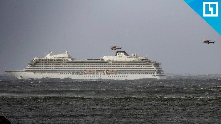 Пассажирский корабль потерпел бедствие у берегов Норвегии