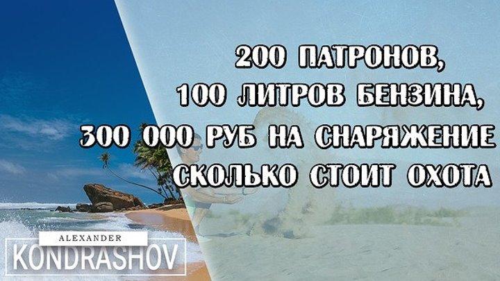 200 патронов, 100 литров бензина, 300 000 руб на снаряжение. Сколько Стоит Охота
