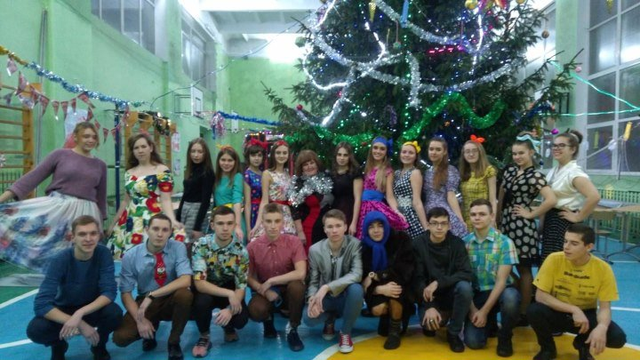 27.12.2018г., Новый год старшеклассников в Славской школе.