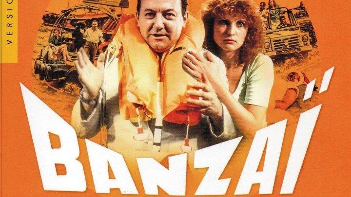 Банзай (1983) (BDRip-720p) DUB (Remastered) комедия, приключения Колюш, Валери Мересс, Дидье Каминка, Марта Вильялонга, Ева Дарлан, Франсуа Перро, Жан-Мари Пролье