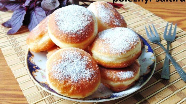 Рай для сладкоежек! Простой рецепт пышных пончиков с молочным, заварным кре