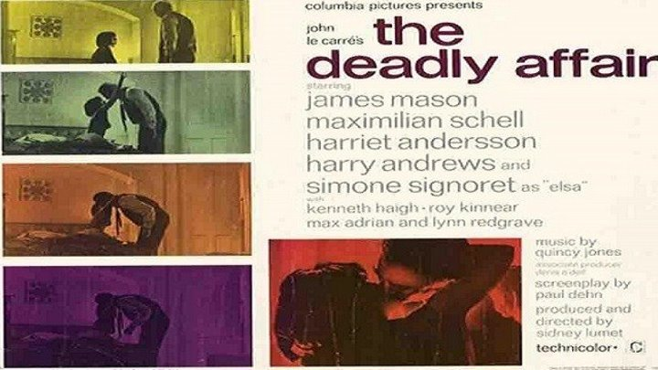 ASA 🎥📽🎬 The Deadly Affair (1966) a film directed by Sidney Lumet with James Mason, Simone Signoret, Maximilian Schell, Harriet Andersson