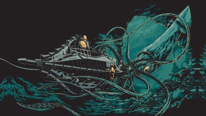 Ретро кино: 20000 лье под водой. 1954.(фантастика+семейный+приключения)