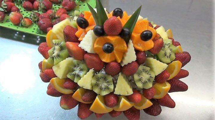 Великолепный букет из фруктов. Невероятно красиво, очень вкусно и полезно!