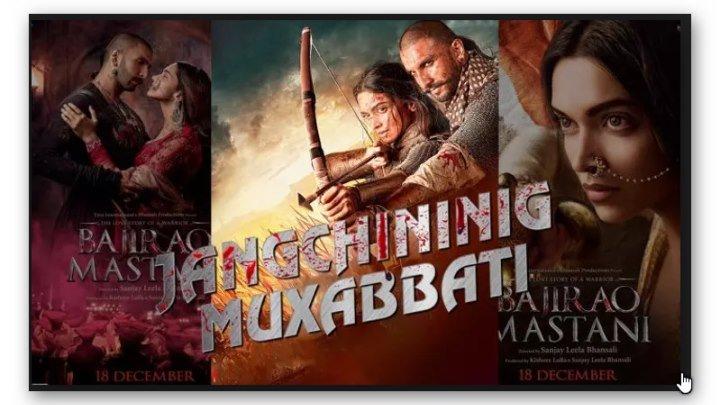 Bajirao Mastani - Jangchining Muxabbati (uzbek tilida hind kino) 2019 full HD