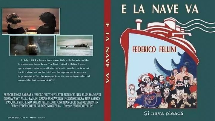 И корабль плывёт (Федерико Феллини) [1983, Италия, Франция, Драма, комедия, военный, музыкальный]