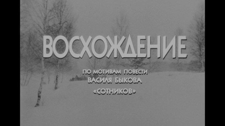 ВОСХОЖДЕНИЕ. СССР. 1976. военная драма,притча.
