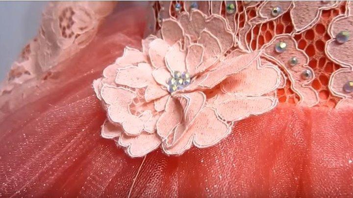 Как сделать цветы из кружева