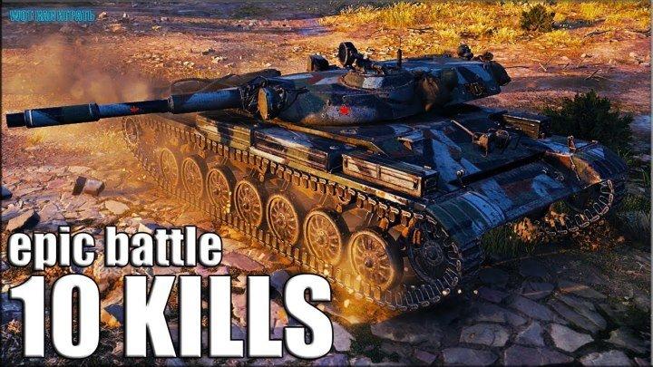 ОТГРЁБ, А ПОТОМ ЗАТАЩИЛ 🌟 10 ФРАГОВ 🌟 Т-100 ЛТ World of Tanks лучший бой лт 10
