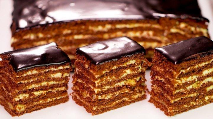 """Ручаемся, не пожалеете! Шоколадно-медовый торт """"Спартак"""" - безумно вкусный"""