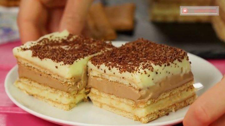 Десерт на все случаи жизни! Самый нежный, воздушный и очень вкусный торт!