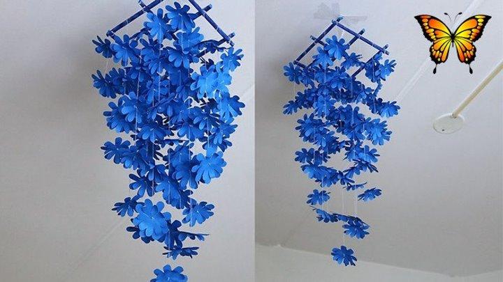 Висячие цветы - украшение ручной работы