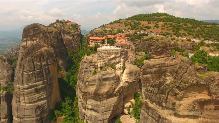 Потрясающее зрелище. Парящие Монастыри - (Метеора, Греция)