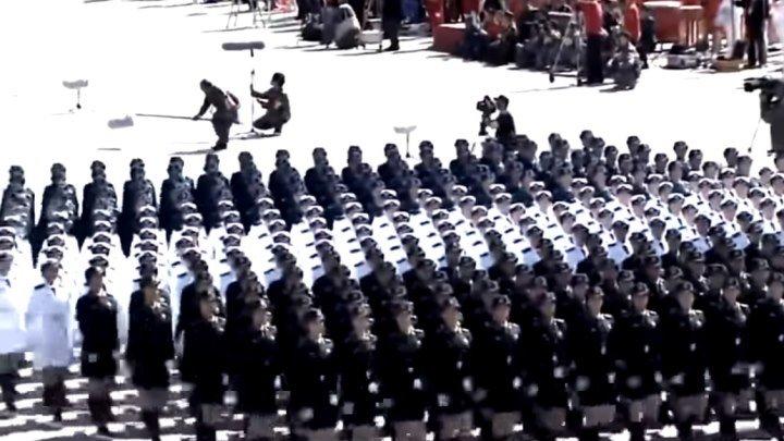 Впечатляет! Парад китайских девушек (Катюша) Умницы, красавицы!
