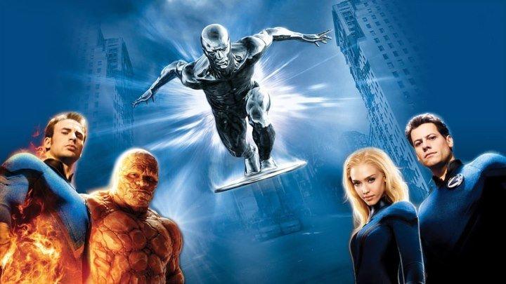 """Кино """"Фантастическая четверка: Вторжение Серебряного серфера (2007)"""" MaximuM"""