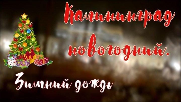 2019. НОВОГОДНИЙ КАЛИНИНГРАД. ЗИМНИЙ ДОЖДЬ