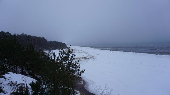 Слайд шоу.Латвия. Балтийское море.Рижский залив.Белая дюна.Январь 2019 года.Часть 1
