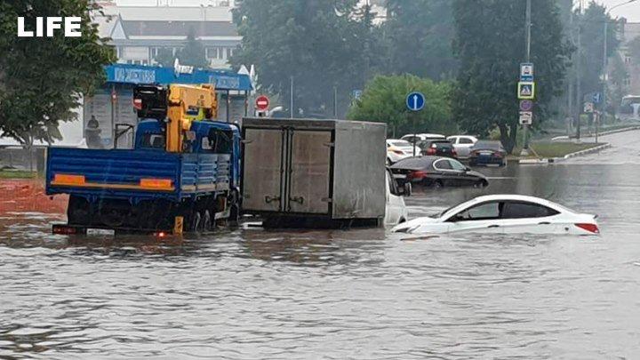 Сильный потоп в Шереметьево
