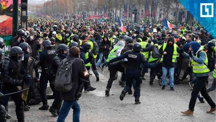 Неугомонные «жёлтые жилеты» бунтуют в Париже