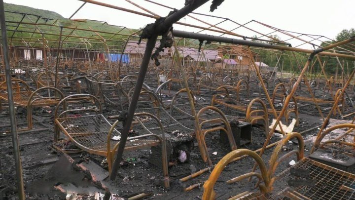 В Хабаровском крае число погибших при пожаре в палаточном лагере увеличилось до четырех