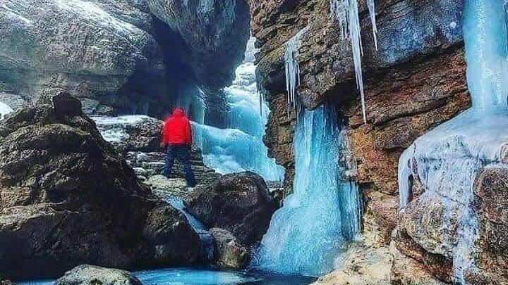 Туристический Азербайджан - Застывший водопад Грыз, Губа