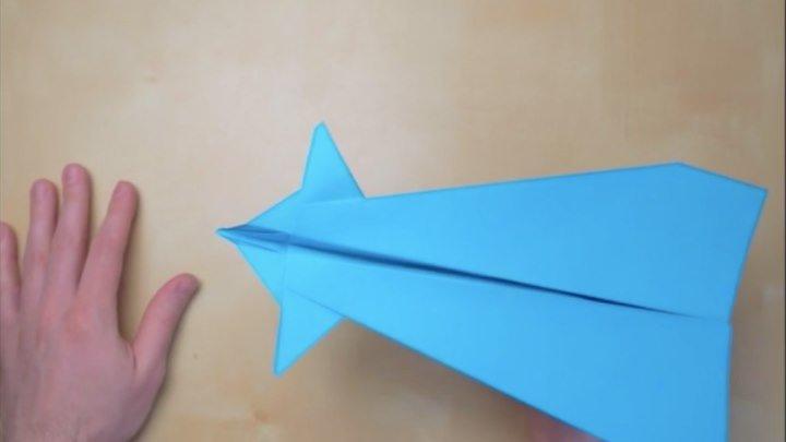 Оригами - Как сделать самолётик Канард из бумаги? 👍