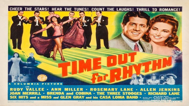 Time Out for Rhythm 🎶🎙️🎵🎤 starring Rudy Vallée, Ann Miller and the Three Stooges!