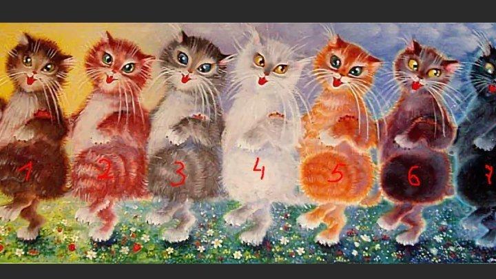 Танцующие котята открытка, наступающим