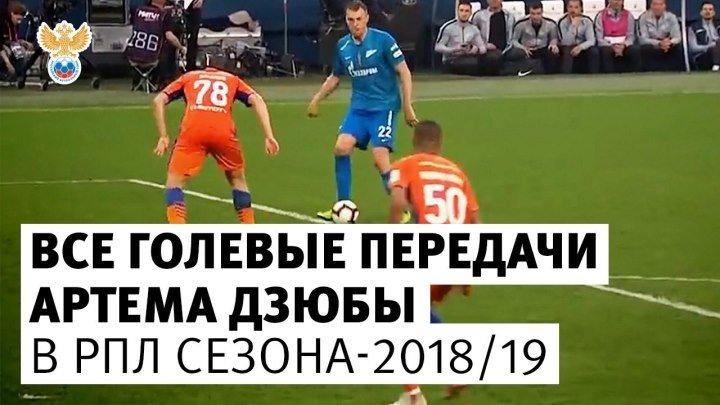 Все голевые передачи Дзюбы в РПЛ сезона-2018/19