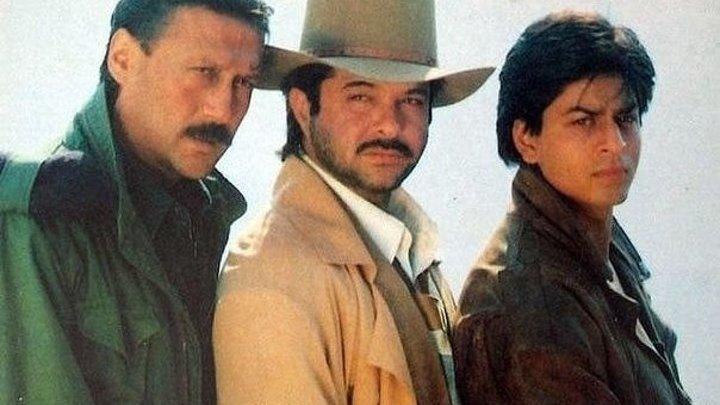 Три брата. Индийский фильм. 1995 год. В ролях: Джеки Шрофф. Анил Капур. Шахрукх Кхан и другие.