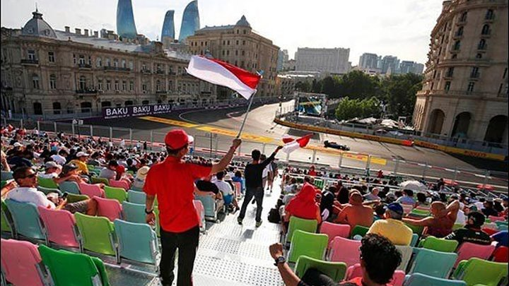 Жаркий Город Ветром Баку - Наша поезда на Формулу 1
