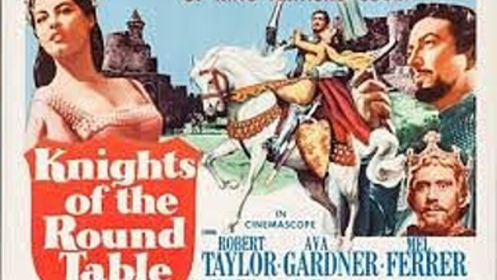 Knights of the Round Table (1953) Robert Taylor, Ava Gardner, Mel Ferrer, Stanley Baker