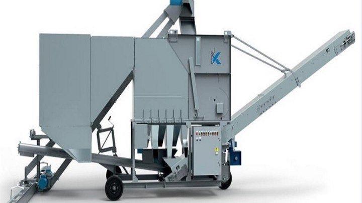 Самоходная зерноочистительная машина 50 тонн в час