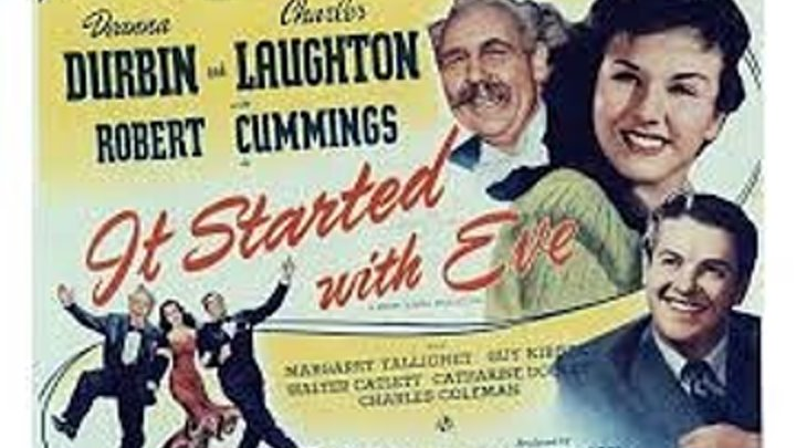 It Started With Eve (1941) Deanna Durbin, Charles Laughton, Robert Cummings