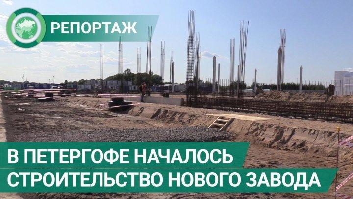 В Петергофе началось строительство нового завода. ФАН-ТВ