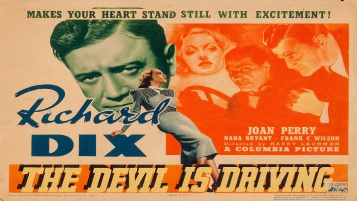 The Devil Is Driving 😈 starring Richard Dix!