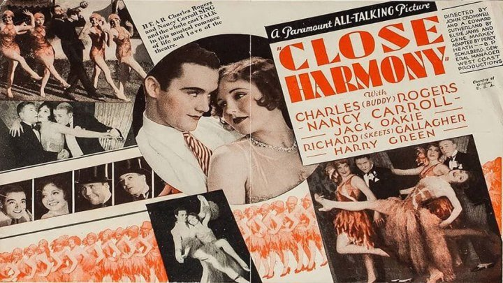 """Close Harmony (The Complete Vitaphone Soundtrack) 🎼🎵🎙️ starring Nancy Carroll and Charles """"Buddy"""" Rogers! with Jack Oakie!"""