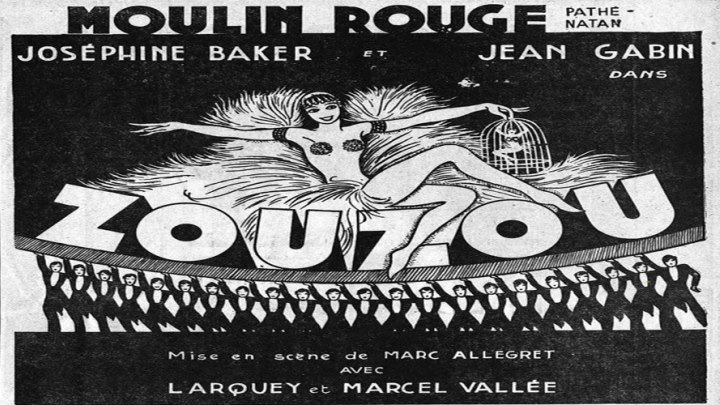 "Josephine Baker is ""Zou Zou""! with Jean Gabin!"