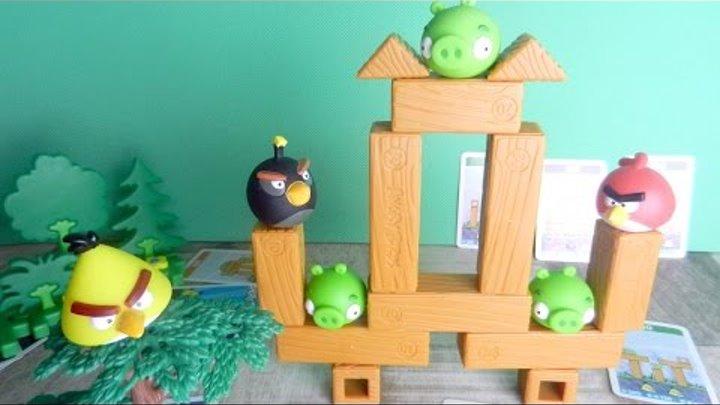 Мультик с игрушками Энгри Бердс. Свинки и злые птички
