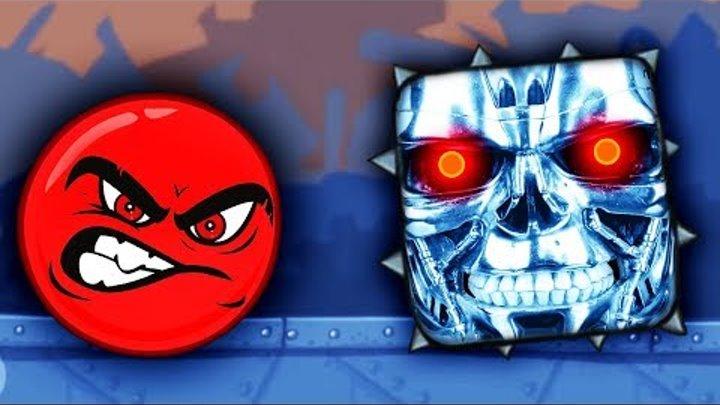 КРАСНЫЙ ШАРИК против ЗЛЫХ КВАДРАТОВ ТЕРМИНАТОРОВ Мультик игра Видео для детей RED BALL 4