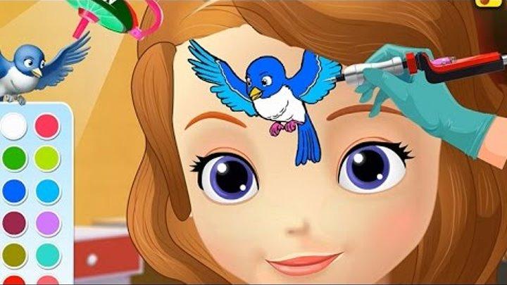 NEW Игры для детей—Disney Принцесса София делаем тату—Мультик Онлайн Видео игры для девочек