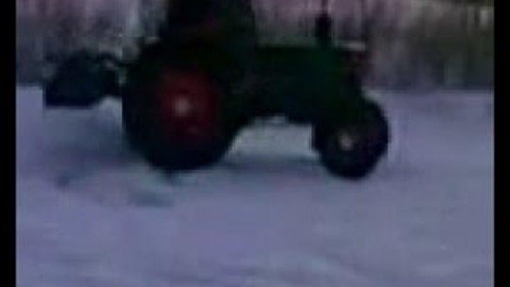 Т 40 Russian tractor drift