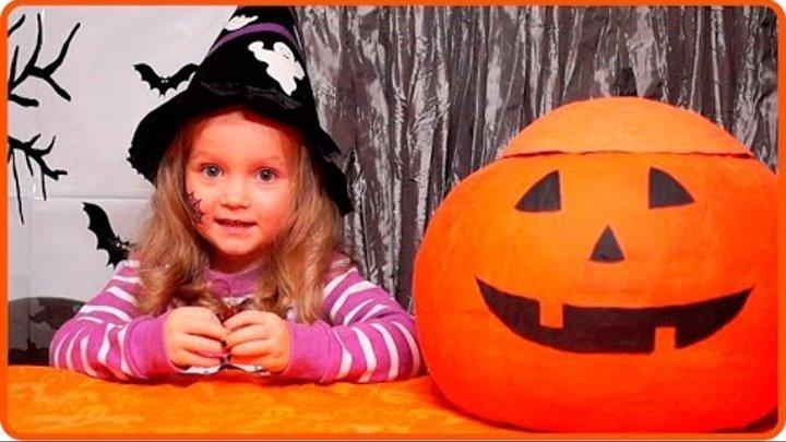 Сюрпризы УЖАСТИКИ и МОНСТРЫ на Хэллоуин 2015 видео распаковка игрушек для детей, тыква на Helloween